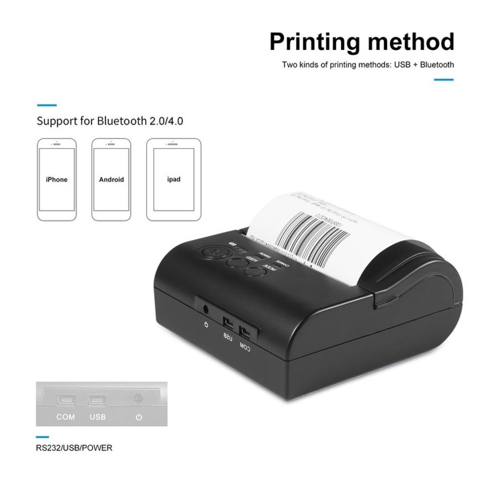 ZJ-5802 LD Portable Mini Printer 58mm Bluetooth 4.0 Android Cash Register POS Re
