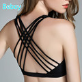 Beboy Padded Sports Bra Women Push Up Running Gym Yoga Bra High Support Sport Bra Top Beautiful Back Compression Underwear