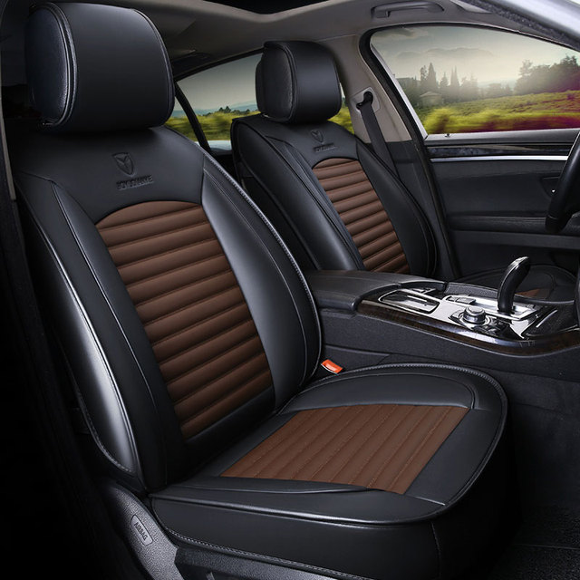 Leather Car Seat Cover Seats Covers Automobiles Cushion For Ford Focus 1 2 3 Mk2 Mondeo