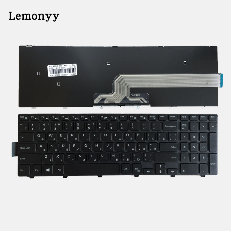 Russian Keyboard FOR DELL Inspiron 15 3000 5000 3541 3542 3543 5542 5545 5547 15-5547 15-5000 15-5545 17-5000 RU laptop keyboard new for dell f6t7j 0f6t7j for inspiron 15 5545 5547 5548 wireless antenna cable dc33001ik0l 48eaax05 4gaf a02
