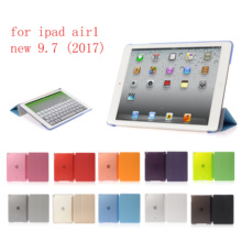 PC Leather Case for Apple iPad air new 9.7 Fashion Smart Cover + translucent back ipad A1822`A1823`A1893`A1954