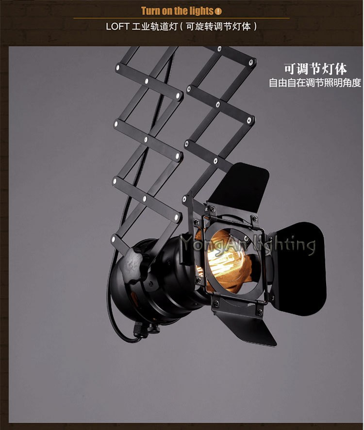 free shipping Designer loft vintage industrial lighting foldable lamp pendant lamp 9