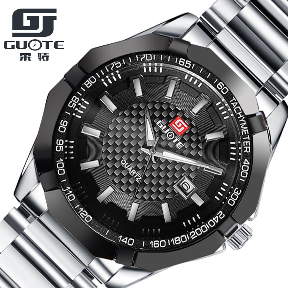 2016 Waterproof Calendar Fashion Sport Men Watch Luxury Brand Full Stainless Steel Quartz Watch Mens Boutique