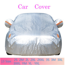 Waterproof Car Cover Complex Thicken Aluminum Foil Thicken Case For Sunshade Snow Protection Dustproof rainproof Full Car Cover