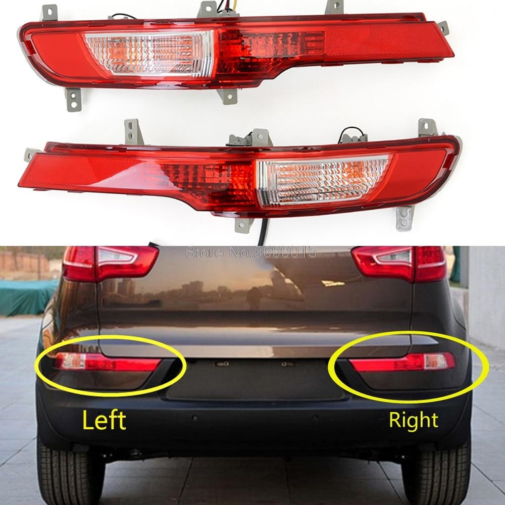 For Kia Sportage 2011 2012 2013 2014 Rear Fog Light Lamp Assembly Tail Foglight Rear Bumper Brake Lights Accessories Car Parts