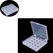 25 Slots Empty Bobbins Spools Box Storage Sewing Machine Bobbin Case Covers High Quality Sewing Tools Hot Sale(China)