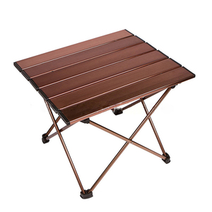 Image 2 - Outdoor Portable Lightweight Aluminium Alloy Desk Mini Easy Clean Waterproof Multiuse Camping Folding Table Hard Topped Durable