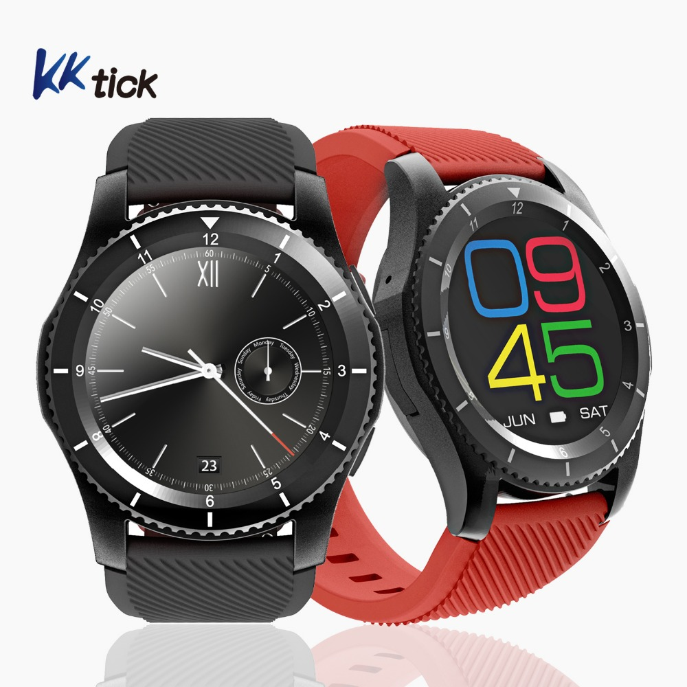 KKtick G8 Smartwatch Phone Message Call Alert Health Fitness Tracker Remote Control For Android IOS