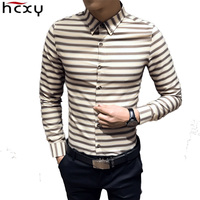 Men Shirts 2017 Shirts Men Striped Korean Version Dress Shirt Long Sleeve Mens Brand Casual Shirts