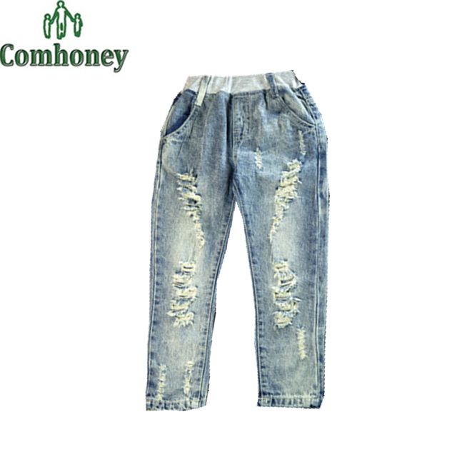 Kids Jeans for Girls Cool Baby Boy Ripped Jeans New Children Denim Pants Spring Toddler Bebe School Trouser Fashion Skinny Jeans