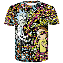 Newest Summer Fashion skull 3D t-shirt Cartoon Rick and Morty 3d Print Men/women T shirts Hip hop Tee shirts 2019 Casual top tee men skull and floral print tee