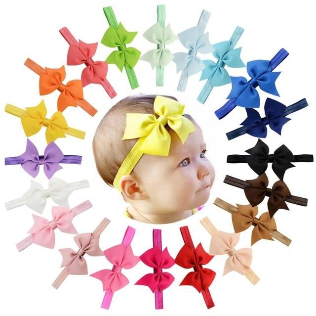 Hot Sale 3.5'' Hair Accessories Kids Headband Ribbon Bows Hairband  Elastic Hair bands Bandeau Accesorios Pelo 568