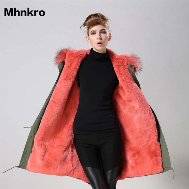 US $380.0 |6 farbe Damen winter party tragen mode lange unten pelz parka mantel gefälschte pelz umwelt freundliche tragen in Kunstpelz aus