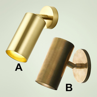 100% pure copper Cylinder wall light brass sconce lighting fixture LED brass wall lamp copper adjustable tube lighting