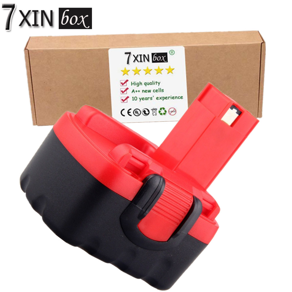 7XINbox 3.0Ah 14.4V NI-MH Battery For Bosch BAT038 BAT040 2607335685 2607335694 2607335264 2607335276 2607335465 2607335711 for bosch 14 4va 2500mah power tool battery ni cd 2607335678 2607335685 2607335686 2607335694 bat038 bat040 bat041 bat140 bat159