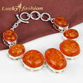 Best sale ! Fashion New style exquisite huge Bracelet Bangle Rare Created Amber charm bangle --Lady shop
