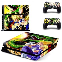 Dragon Ball Decal Skin Console and Controller Sticker Kit for Sony Playstation 4 PS4 Controllers