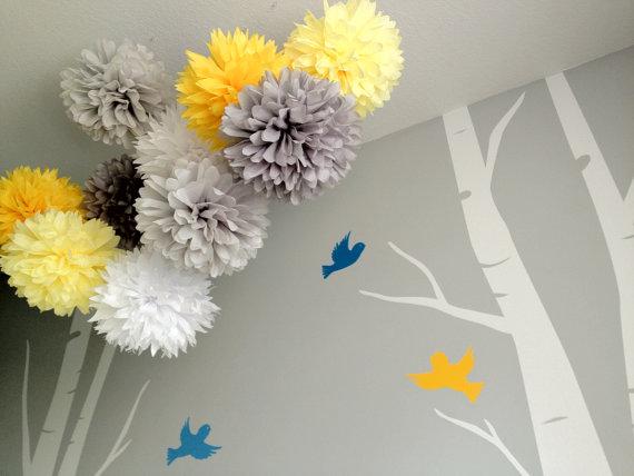 20pcs 6 15cm Tissue Paper Pom Poms Children S Room Decor Nursery