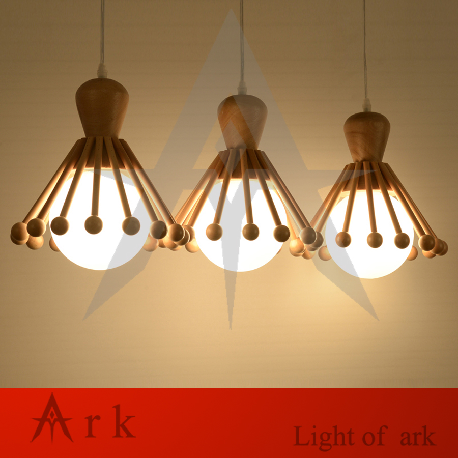 Ark Light Modern Creative Handmade Wooden Octopus Wood Led Hanging Pendant Lamp Lighting Fixture Home Decoration In Lights From
