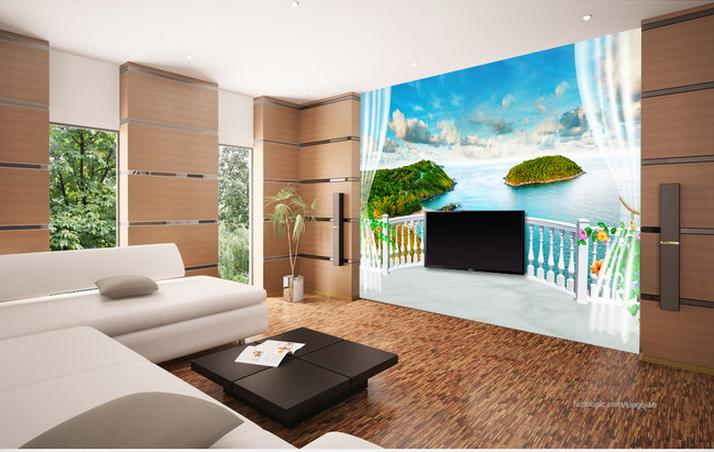 3d wallpaper custom mural non-woven wall sticker 3 d TV setting wall of fantasy balcony sea view painting photo wallpaper for 3d 3d room wallpaper custom mural non woven wall sticker 3 d fantasy green vine of roses painting photo wallpaper for walls 3d