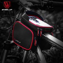 цена на 2019 New 6.2 Inch Waterproof TPU Touch Screen Bike Bags MTB Road Bicycle Front Frame Top Tube Bag Cell Phone Mountain Bicycle