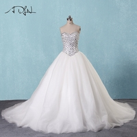 ADLN Luxury Beaded Sweetheart Crystal Wedding Dress 2017 Gorgeous Court Train Ball Gown Bride Gown Robe