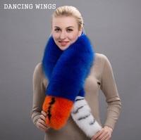 Women Real Natural Fox Fur Scarf Fox Fur Collar Ring Scarf