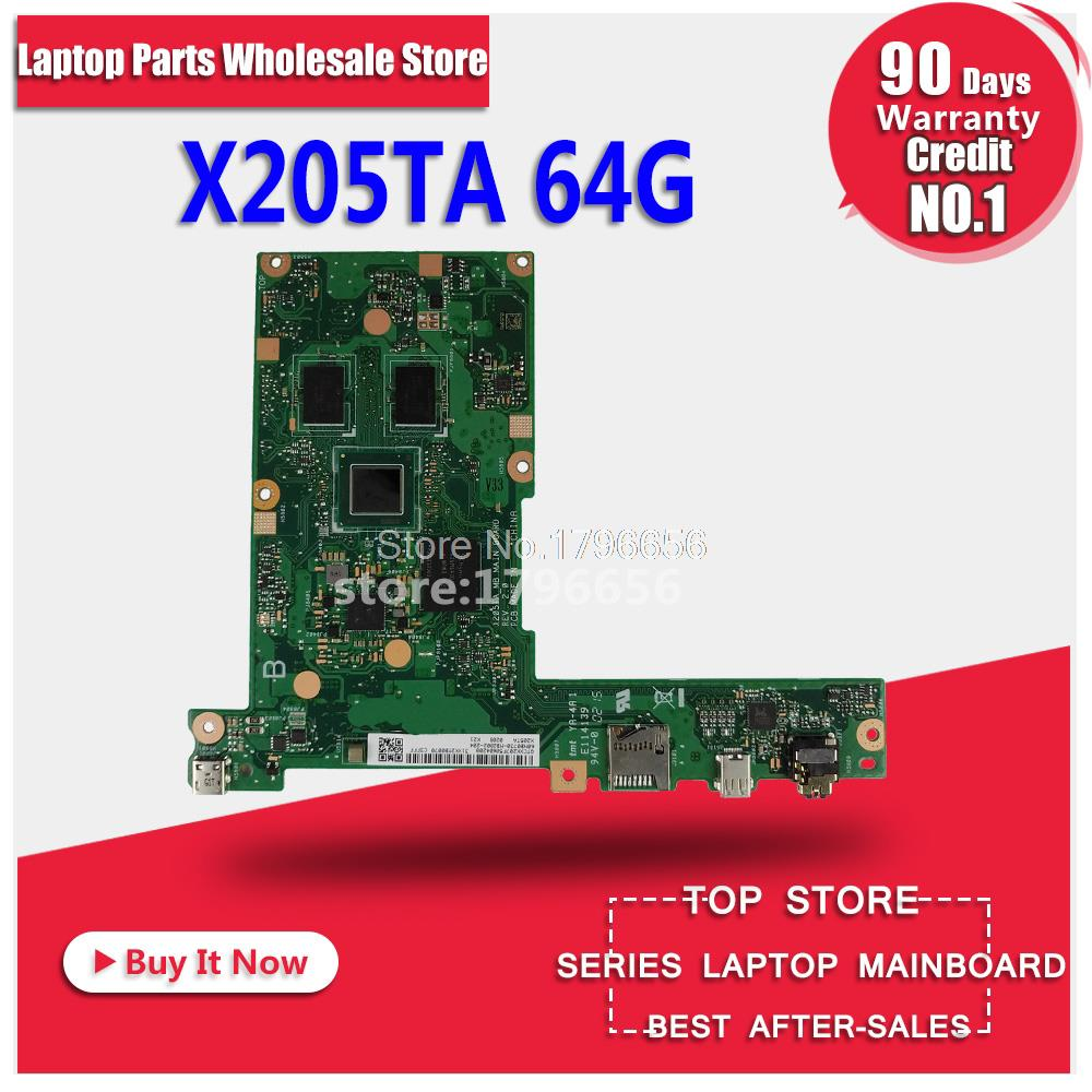 original X205TA X205TAW 2G/Z3735F/64G/AS laptop motherboard for ASUS X205T X205TA with processor tested laptop Motherboard цена