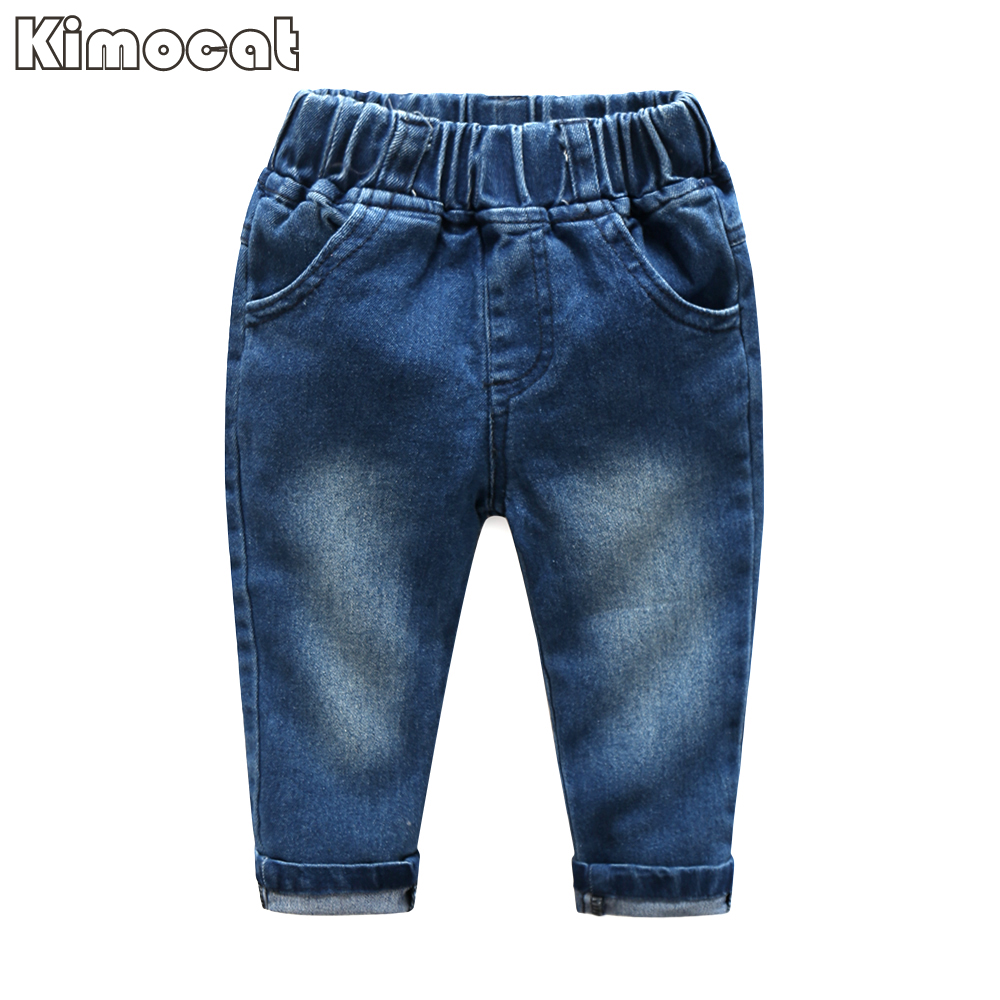 Cute Baby Boy Ubrania Blue Plaid kombinezon + Jeans Baby Długi - Odzież dla niemowląt - Zdjęcie 4