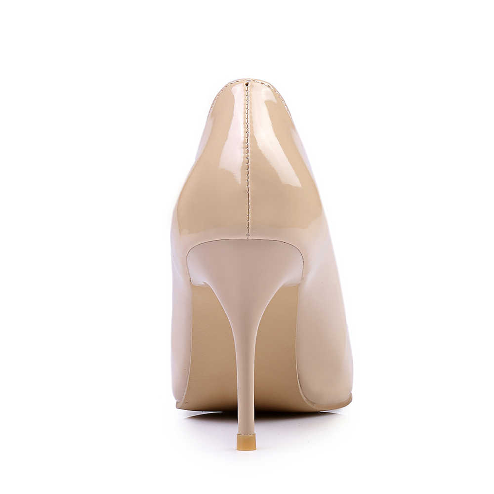 ecf3bec2fe ... Brand New Classic Black Red Women Glossy Nude Pumps Stiletto High Heels  White Lady Formal Shoes ...