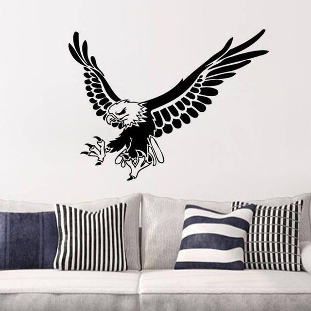 Flying Eagle Wall Home Sticker Eagle Animal Wall Decor Bird Wall Decor Kids  Room