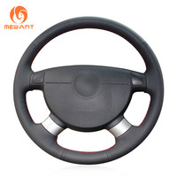 Black Artificial Leather Steering Wheel Cover for Chevrolet Lova 2006 2010 Chevrolet Aveo Buick Excelle Daewoo Gentra 2013 2015|leather steering wheel cover|steering wheel coverwheel cover -