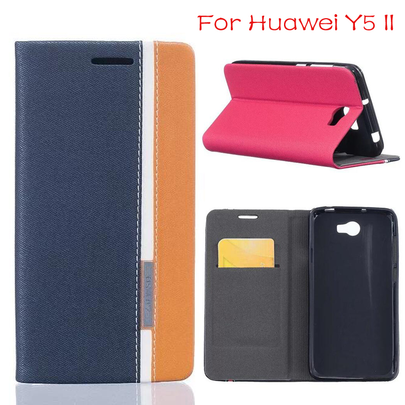 "DIYABEI For Huawei Y5 ll 5.0"" Cover Case Wallet Leather Flip Phone Bag Coque For Huawei Y5 ll cover phone case"
