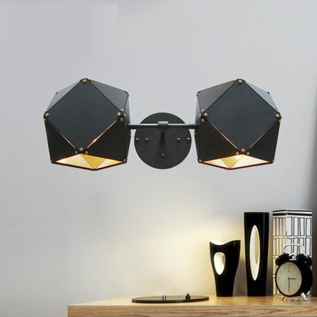 Modern Wall Lamp For Living Room Wall Sconces Bedroom Bedside Black Metal  Wall Lights Home Lighting