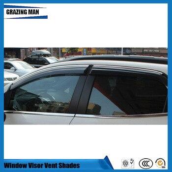 Sun visor Car accessories Window Visor Vent Shades Sun Rain Deflector Guard 4PCS/SET for Ecsport