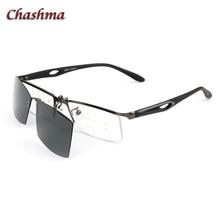 Magnetic Glasses Half-Frame Sport Clips Lenses Eyewear Polarized Design Chashma Alloy