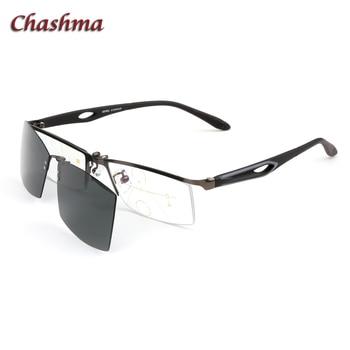 0335a3d516 Chashma Marca Diseño medio Marco de aleación gafas ópticas deporte gafas de  sol imán Clips lentes polarizadas gafas magnéticas