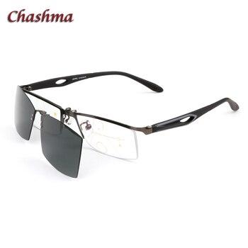 d99242dca4 Chashma Marca Diseño medio Marco de aleación gafas ópticas deporte gafas de  sol imán Clips lentes polarizadas gafas magnéticas