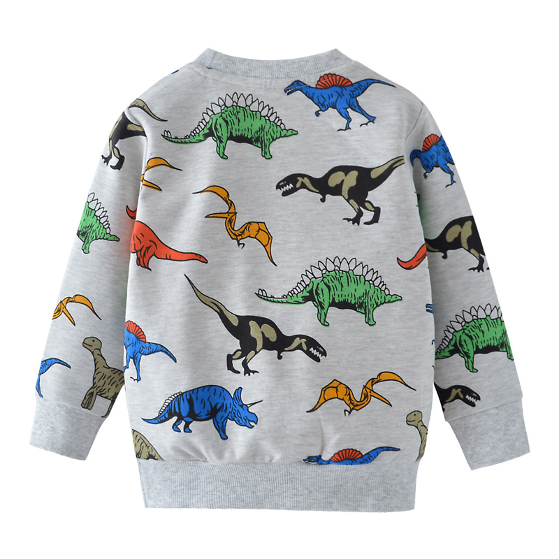 SAILEROAD Cartoon Dinosaur Boys Sweatshirts for Little Kids Hoodies Clothes 2-7Years Autumn Children Long Sleeve Shirts Cotton 5