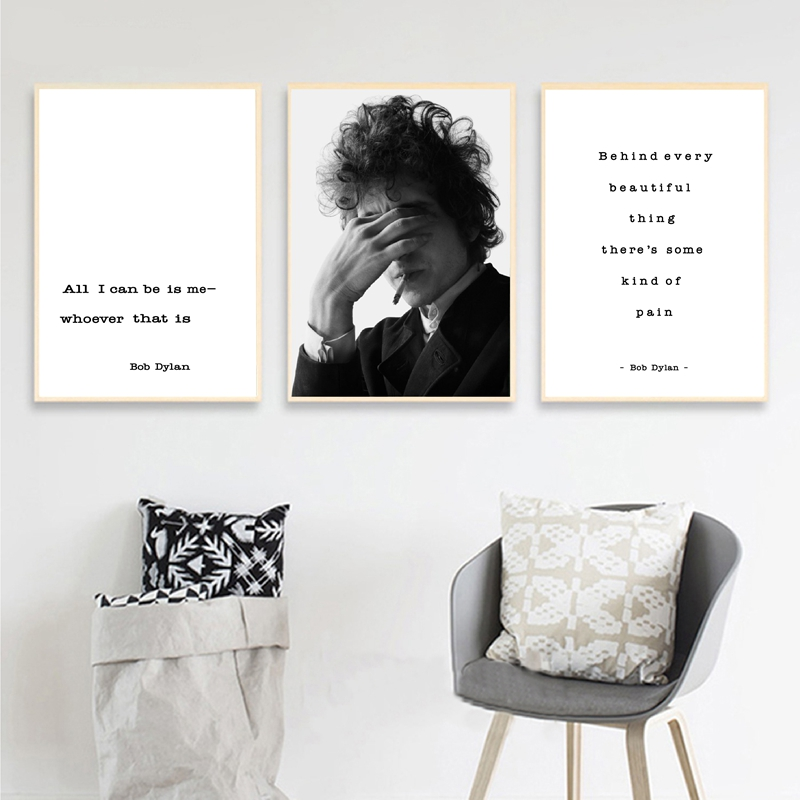 Bob Dylan Modern Poster Rock Musician Art Prints , Bob Dylan Inspirational Life Quote Canvas Painting Wall Pictures Home Decor