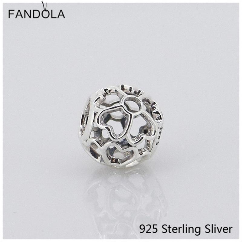 9b9e4303d564 CKK joyería de plata 925 calado Primrose encantos de perlas de moda encaja  Original pulseras DIY joyería de ley