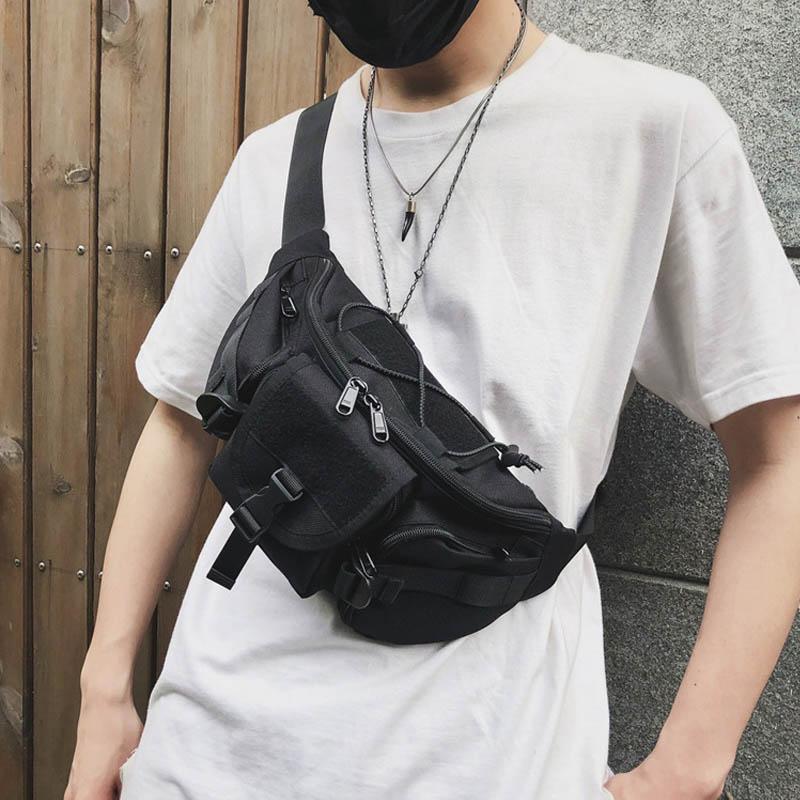 Outdoor Tactical Waist Pack Streetwear Men Bag Functional Chest Bag Pack Tactical Waist Bags Men Camping Hiking Pouch HandBag