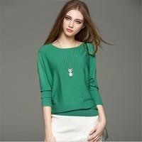 High Quality Women Sweater 2017 Fashion Spring basic Apparel Women Sweater slit neckline Sweater thickening Autumn sweater