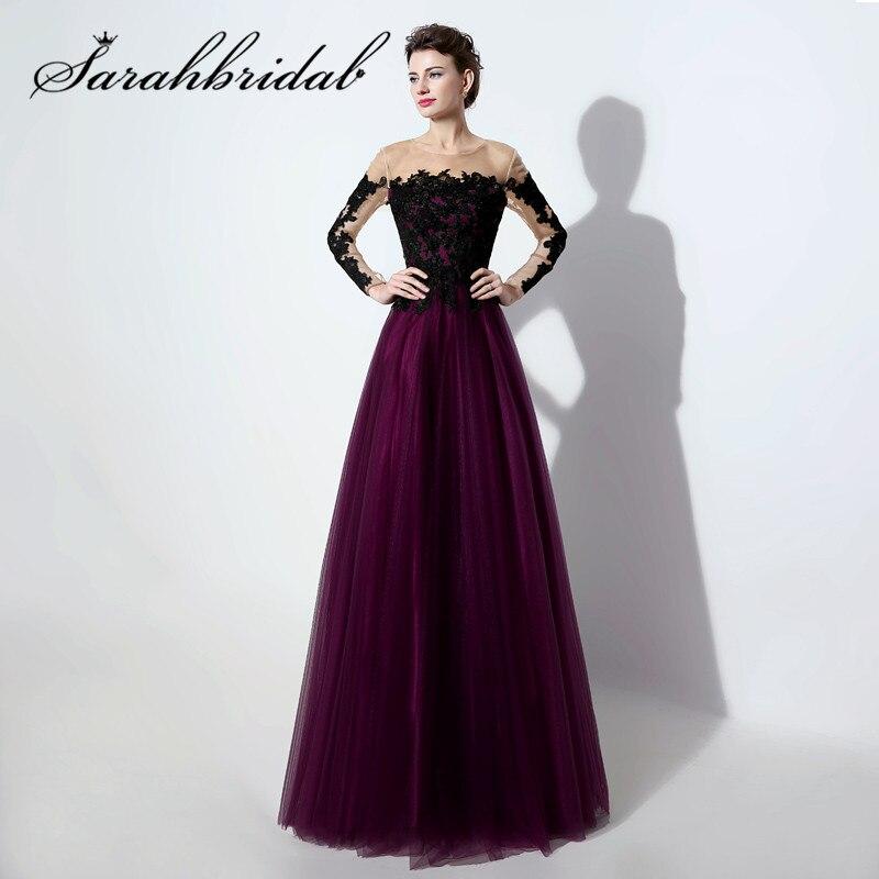 Платье вечернее ТРАПЕЦИЕВИДНОЕ кружевное Тюлевое с длинным рукавом аппликацией