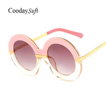 Coodaysuft gafas de Sol Mujeres Diseñador de la Marca Señora de la Mujer gafas de Sol UV400 Marco Gradiente de Moda de Gran Tamaño Ronda