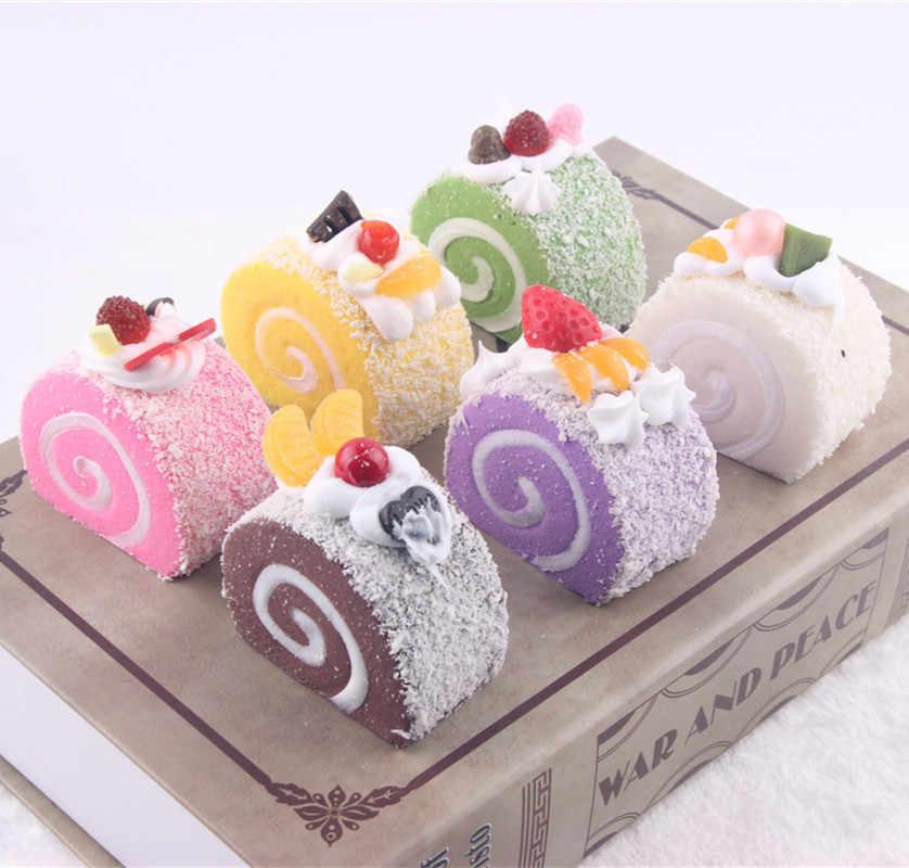 6 pcs Mô Phỏng Kem Cupcake Sàng Lọc Sequishy Bánh Mì Keychain Giả Vờ Chơi Trẻ Em Cô Gái Giả Vờ Đồ Chơi Đảng Trang Trí Sinh Nhật