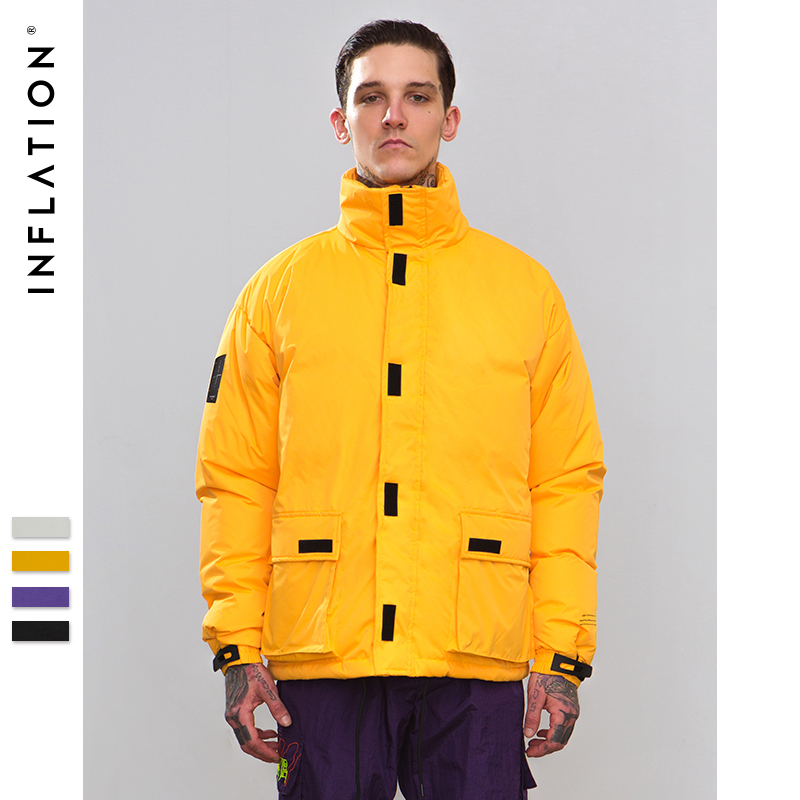 INFLATION 2018 Winter Jackets Coat Fashion High Quality Cotton Padded Windproof Thick Warm Soft Brand Clothing Male   Parkas   8761W
