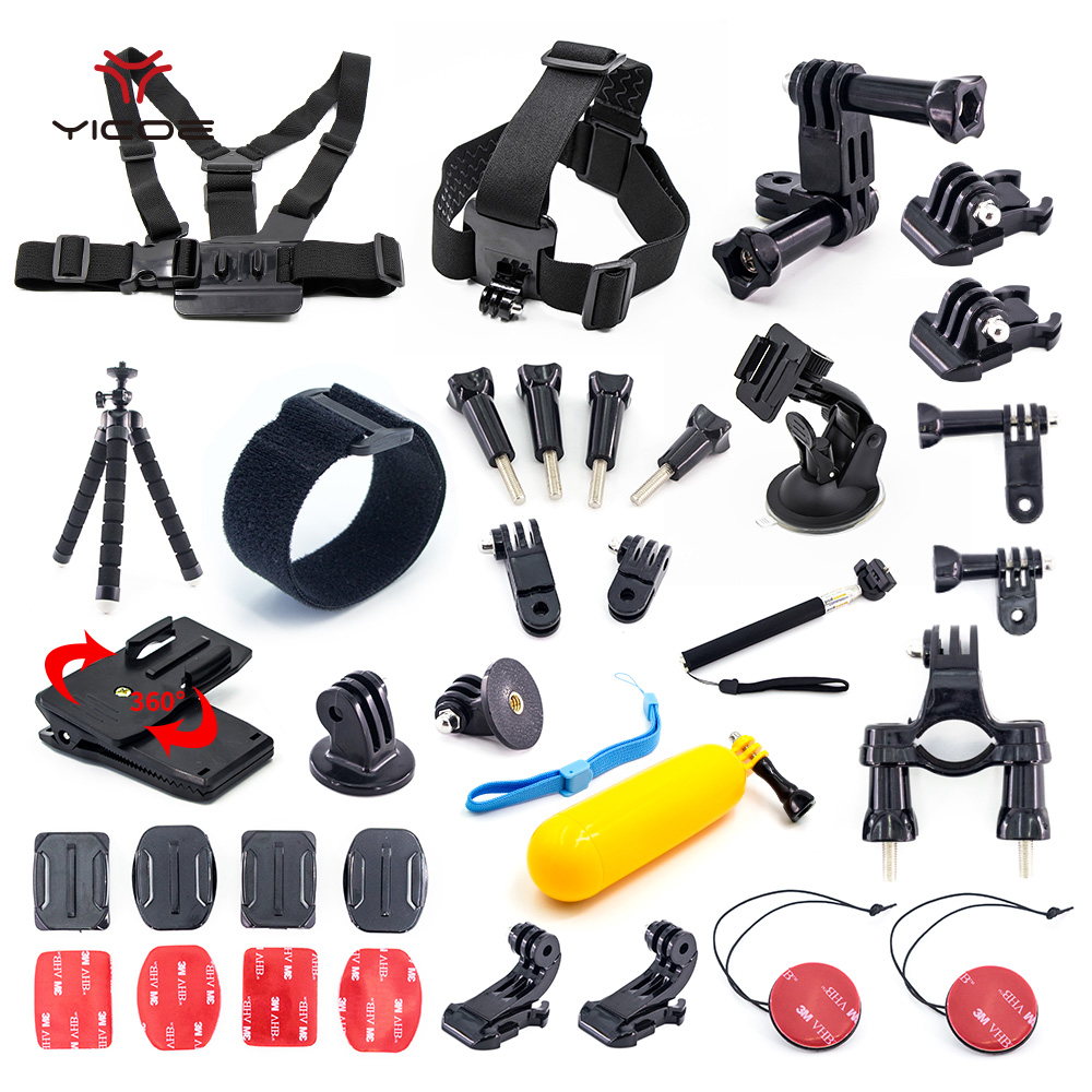 Set Kit Mount Tripod Strap Monopod Clip Bag for Gopro Accessories Go pro hero 5 4