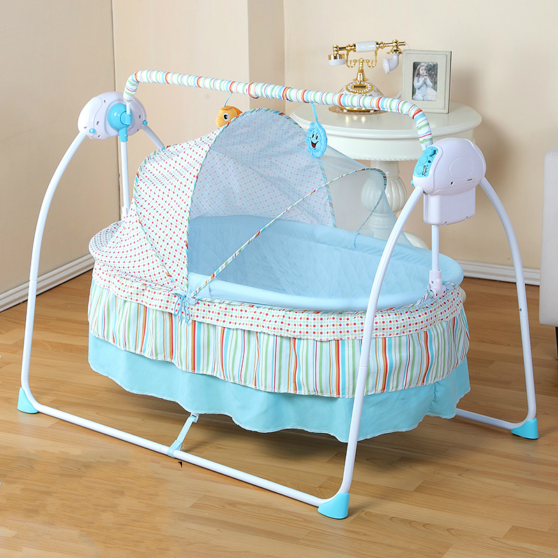 Baby Cradle Newborn Crib Bed Basket Small Shaker Electric Bouncer Swing  Automatic Rocking Chair Bed Basket with Plug-in Cradle from Mother & Kids  on ...
