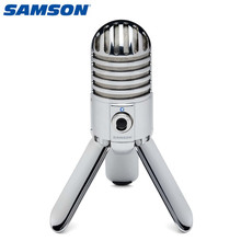 100% Original Samson Meteor USB Studio Condenser Microphone With Headphone Output For Journalism Home Video VOIP Record Gaming